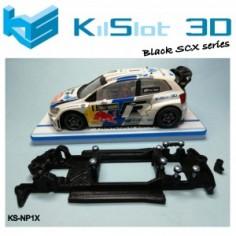 Kilslot NP1X Chasis 3d motor RX LINEAL BLACK POLO WRC SUPERSLOT