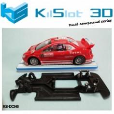 Kilslot DCN6 Chasis 3d DUAL COMP KILSLOT PEUGEOT 307 WRC NINCO
