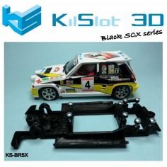 Kilslot BR5X Chasis 3d motor RX LINEAL BLACK RENAULT 5 MAXI TURBO SCX