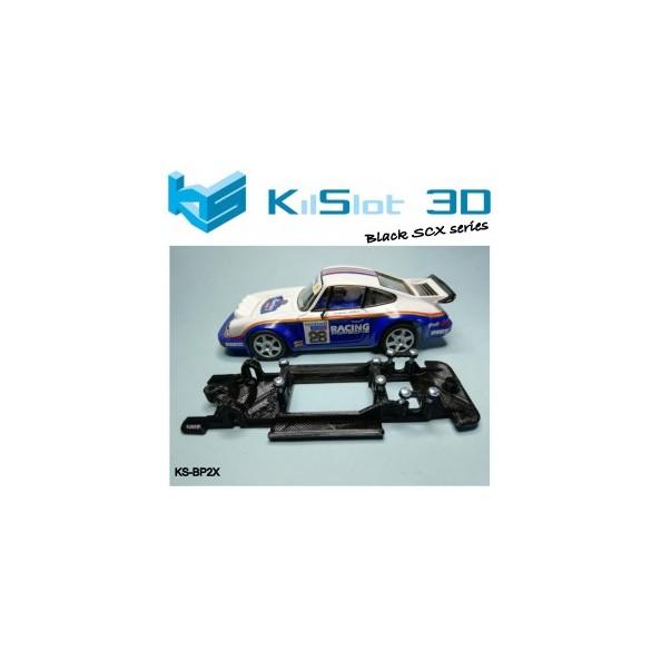 Kilslot BP2X Chasis 3d motor RX LINEAL BLACK PORSCHE 911 CARRERA SCX