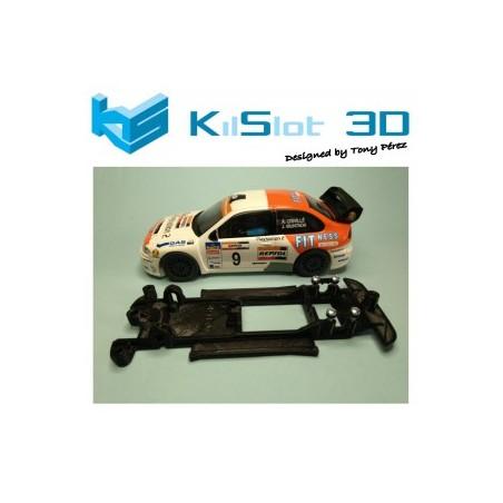 KILSLOT KS-CC1B CHASIS 3D LINEAL BLACK SEAT CORDOBA WRC SCX