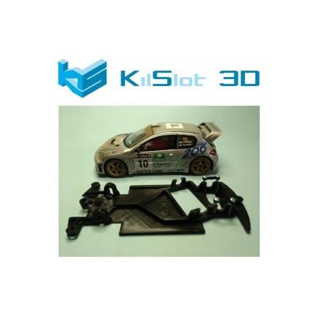 KILSLOT KS-CP2A CHASIS ANGULAR BLACK PEUGEOT 206 WRC SCX