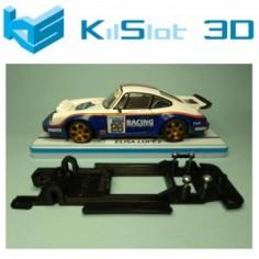 KILSLOT KS-BP2B CHASIS LINEAL BLACK PORSCHE 911 CARRERA SCX