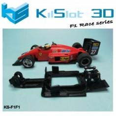 KILSLOT CHASIS 3D LINEAL RACE FERRARI F1/87 SCX