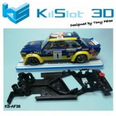 KILSLOT CHASIS 3D RACE SOFT ANGULAR FIAT 131 ABARTH SCX