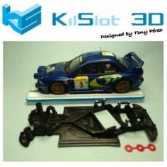 KILSLOT KS-AN18 CHASIS 3D ANGULAR RACE 2018 SUBARU MSC