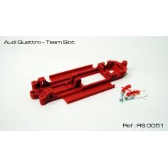 CHASIS 3D AUDI QUATTRO TEAM SLOT RED SLOT