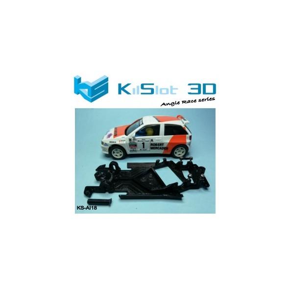 Kilslot KS-AI18 Chasis 3d angular Race Soft Seat Ibiza KitCar Scalextric