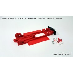 RED SLOT RS-0065 CHASIS 3D FIAT PUNTO / RENAULT CLIO NSR