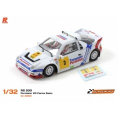 Scaleauto 6185R Ford RS200 Gr.B Purolator Carlos Sainz AW