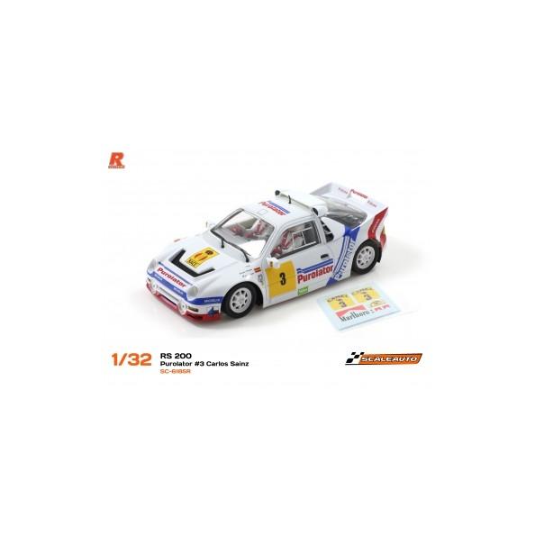 Scaleauto 6185R Ford RS200 Gr.B Purolator Carlos Sainz AW