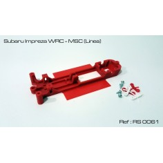CHASIS 3D SUBARU IMPREZA WRC MSC RED SLOT