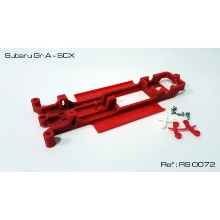 RED SLOT RS-0072 CHASIS 3D SUBARU GR A SCX