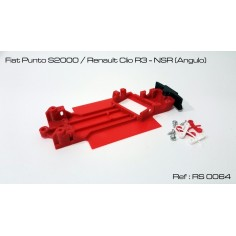 CHASIS 3D FIAT PUNTO / RENAULT CLIO NSR RED SLOT