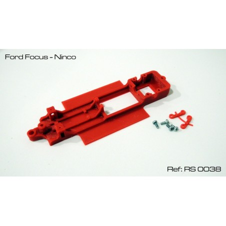 RED SLOT RS-0038 CHASIS 3D FORD FOCUS NINCO