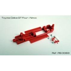 RED SLOT RS-0063 CHASIS 3D TOYOTA CELICA GT FOUR NINCO