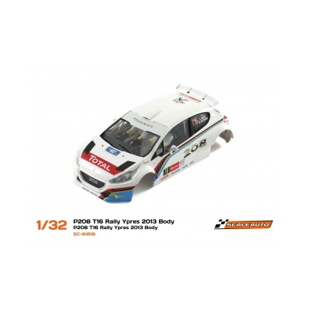 Scaleauto 6184B Carrocería Peugeot 2018 T16 Rally Ypres 2013