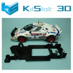 Kilslot BS2B Chasis 3d lineal Black Lancia Stratos Team Slot