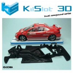 Kilslot DCN6A Chasis 3d angular DUAL COMP PEUGEOT 307 WRC NINCO