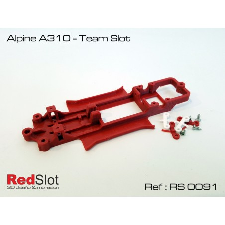 RED SLOT RS-0091 CHASIS 3D ALPINE A310 TEAM SLOT