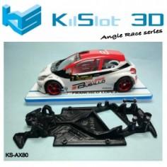 Kilslot AX80 Chasis 3D angular RACE SOFT Peugeot 208 Scaleauto