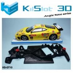 KILSLOT KS-GT10 Chasis 3d angular RACE SOFT Ferrari 360 Modena Ninco