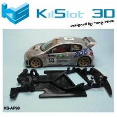 KILSLOT KS-AP98 Chasis 3d angular RACE SOFT Peugeot 206 WRC SCX911 NINCO