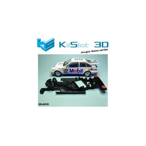 Kilslot KS-AS18 Chasis 3d angular RACE SOFT Ford Sierra Ninco
