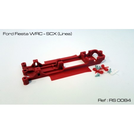 RED SLOT RS-0084 CHASIS 3D FORD FIESTA WRC SCX
