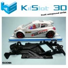 KILSLOT KS-DCN8A chasis 3d angular DUAL COMP Peugeot 208 SCALEAUTO