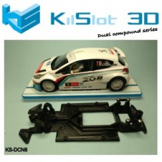 KILSLOT KS-DCN8 chasis 3d DUAL COMP Peugeot 208 SCALEAUTO