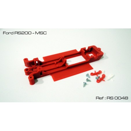 RED SLOT RS-0048 CHASIS 3D FORD RS 200 MSC