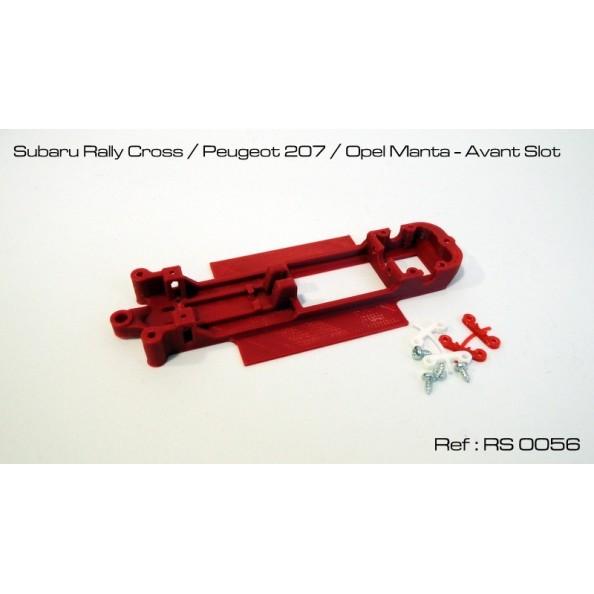 CHASIS 3D SUBARU / 207 / MANTA AVANT SLOT RED SLOT