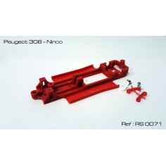 RED SLOT RS-0071 CHASIS 3D PEUGEOT 306 NINCO
