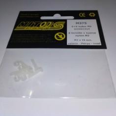 MITOOS M375 5 TORNILLO + TUERCA NYLON M2