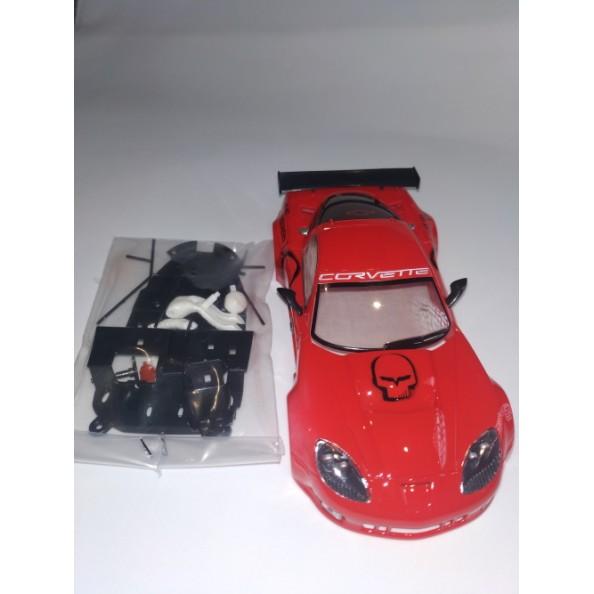 NSR D0006 Carrocería Corvette C6R Take NO Prisioners RED Defecto tampografía