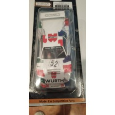 Scaleauto 6027B Carrocería BMW M1 Gr 5 Le Mans 1981 Wurth + interior lexán