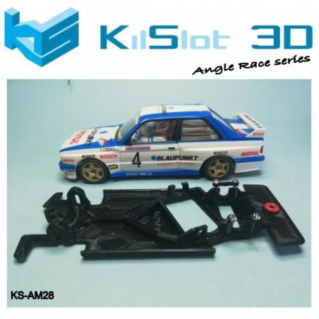 Kilslot KS-AM28 Chasis 3d angular RACE SOFT BMW M3 E30 SCX/Altaya