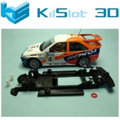 KILSLOT KS-CE1B CHASIS 3D LINEAL BLACK FORD ESCORT RS COSWORTH SCX