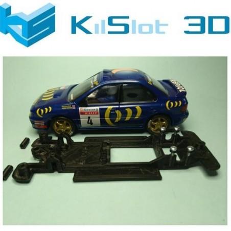 KILSLOT KS-CS6B CHASIS 3D LINEAL BLACK SUBARU IMPREZA GRA SCX Y ALTAYA