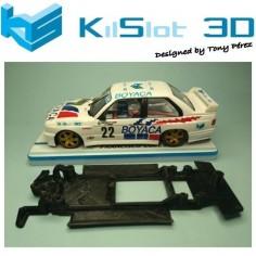 KILSLOT KS-CM3B CHASIS 3D LINEAL BLACK BMW M3 E30 FLY