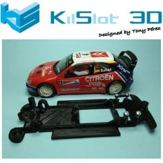 KILSLOT KS-CX2B CHASIS 3D LINEAL BLACK CITROEN XSARA WRC SCX
