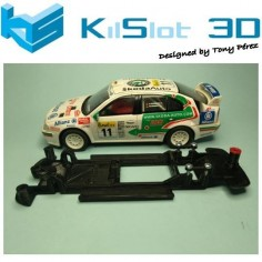 KILSLOT KS-CS4B CHASIS 3D LINEAL BLACK SKODA OCTAVIA WRC SCX