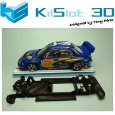 KILSLOT KS-CS3B CHASIS 3D LINEAL BLACK SUBARU WRC SCX