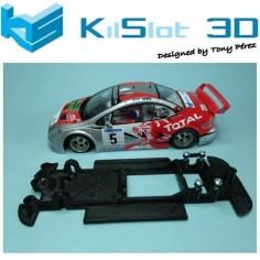 KILSLOT KS-CP3B CHASIS 3D LINEAL BLACK PEGEOT 307 WRC SCX