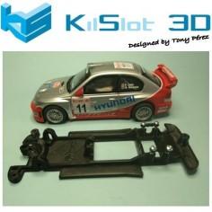 KILSLOT KS-CH1B CHASIS 3D LINEAL BLACK HYUNDAI ACCENT WRC SCX