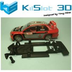 CHASIS 3D LINEAL BLACK MITSUBISHI EVO VIII WRC SCX KILSLOT