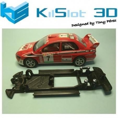 KILSLOT KS-CE2B CHASIS 3D LINEAL BLACK MITSUBISHI EVO VII WRC SCX