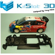 KILSLOT KS-CC4B CHASIS 3D LINEAL BLACK CITROEN C4 WRC SCX