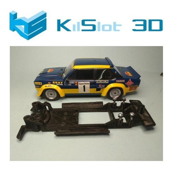 KILSLOT KS-BF1B CHASIS 3D LINEAL BLACK FIAT 131 ABARTH SCX